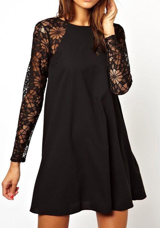 17 Best ideas about Long Sleeve Black Dress on Pinterest | Black ...