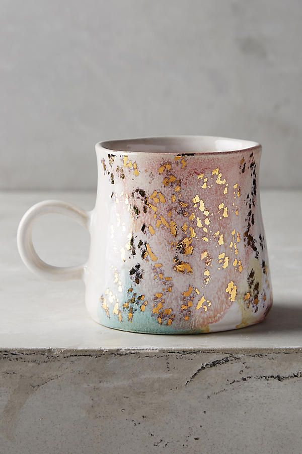 Gold Accent Mug   Anthropologie   #affiliate   Gift Idea