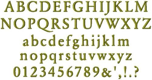 692 Garamond Bold Mini Satin Font | Jolson's Designs File