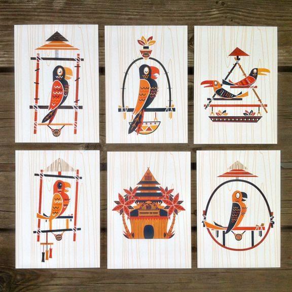 These set of prints are based on the classic characters from the Enchanted Tiki Room.