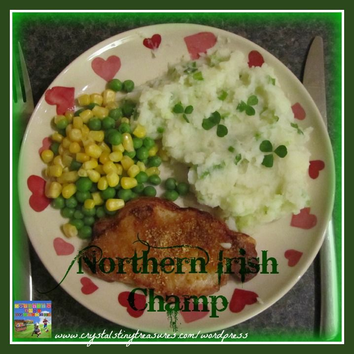 side dish, Northern Irish Champ, potatoes, shamrock, meal, menu, St. Patrick's Day, recipe, photo