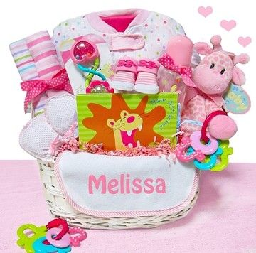 39 best baby gift baskets images on pinterest baby presents little safari girl baby gift basket follow giftprose negle Images