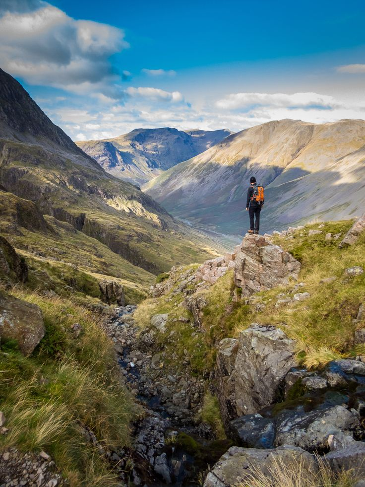 Stop and Awe - On the way up Scafell Pike in the Lake District.