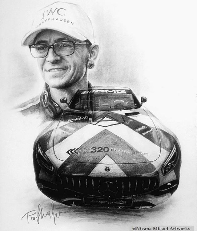 @nicana_micael My new #sketch @chesterbe & 320 Changes Direction car  If you are alone, he'll be your shadow. If you want to cry, he'll be your shoulder. If you are not happy, he'll be your smile. If you need him, he will always be there. #chesterbennington #MakeChesterProud #320changesdirection #mercedesamg #portraitart #artist #drawing #drawingart #charcoal #charcoalart  #pencilart  #goodpeople #memory #neverforget #linkin...