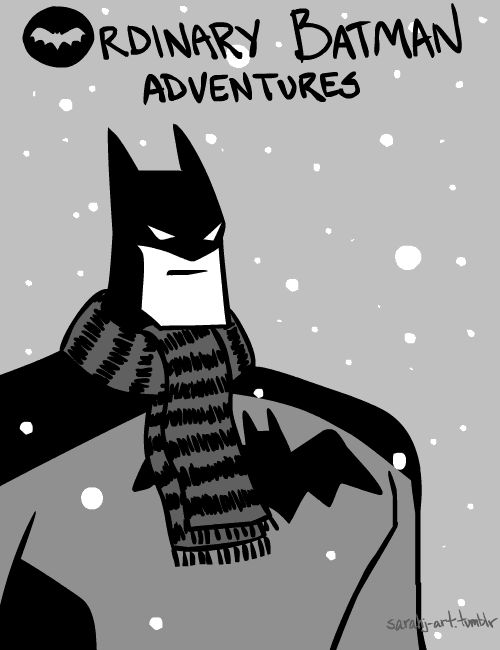 Captures enemy snowflakes. | 24 Things Batman Does When He's Not Fighting Crime