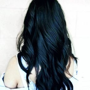 Jet Black Hair With A Hint Of Blue Hair Color For Black