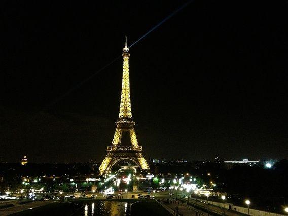 Eiffeltoren Parijs bij nacht. www.jaspervandegeinfotografie.nl