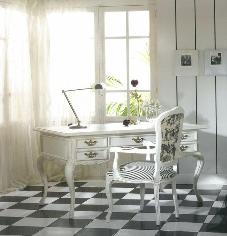 Mesa de Escritorio Clásica Blanca
