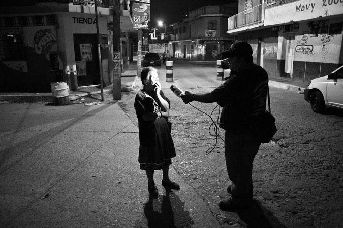 A #journalist #interviewing a woman