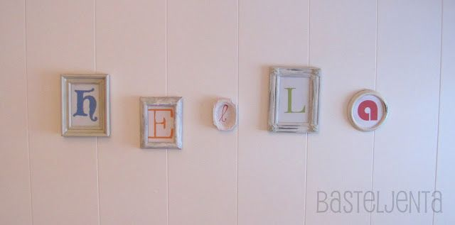 Great idea for a nursery: put letters in old spray painted picture frames. Diy