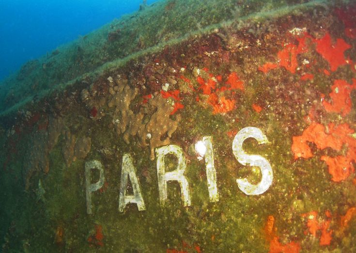 The ship sunk with... oranges in 1918 and the wreck of Paris