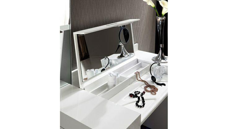 Stylish Design Furniture - Rossetto Diamond White Dressing Table, $2,271.70 (http://www.stylishdesignfurniture.com/products/rossetto-diamond-white-dressing-table.html)