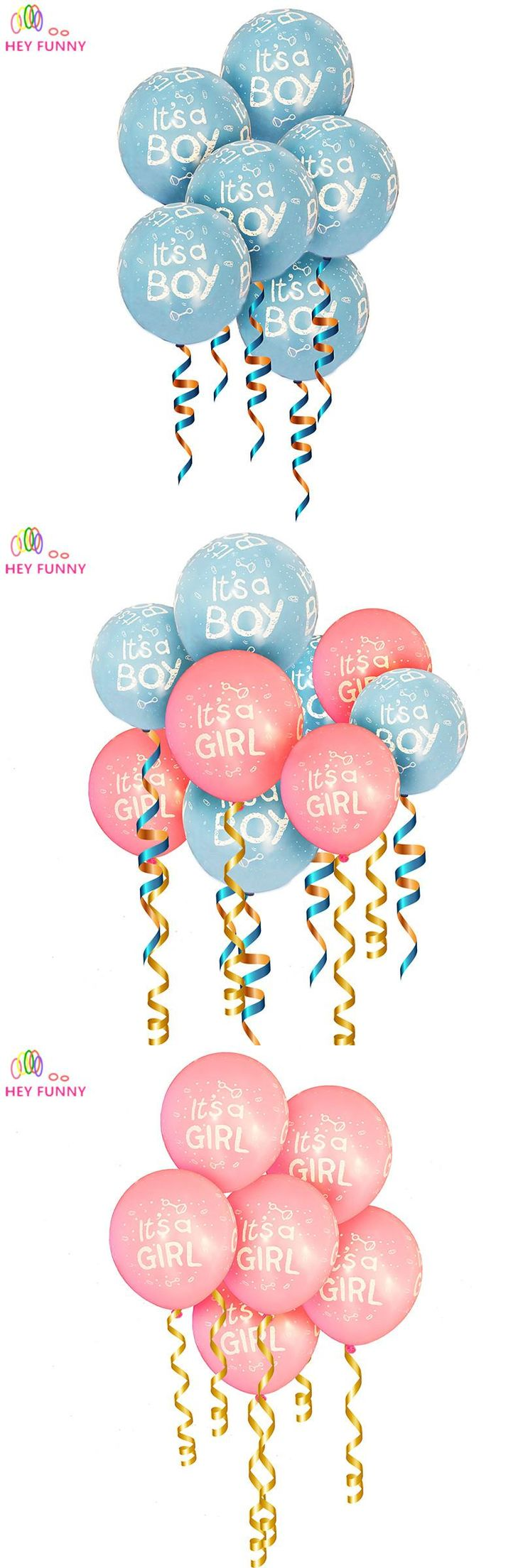 HEY FUNNY 20 Pcs It is a boy and it's a girl baby boy latex balloons for kids Birthday Baby shower Party Decor Blue Pink Colors