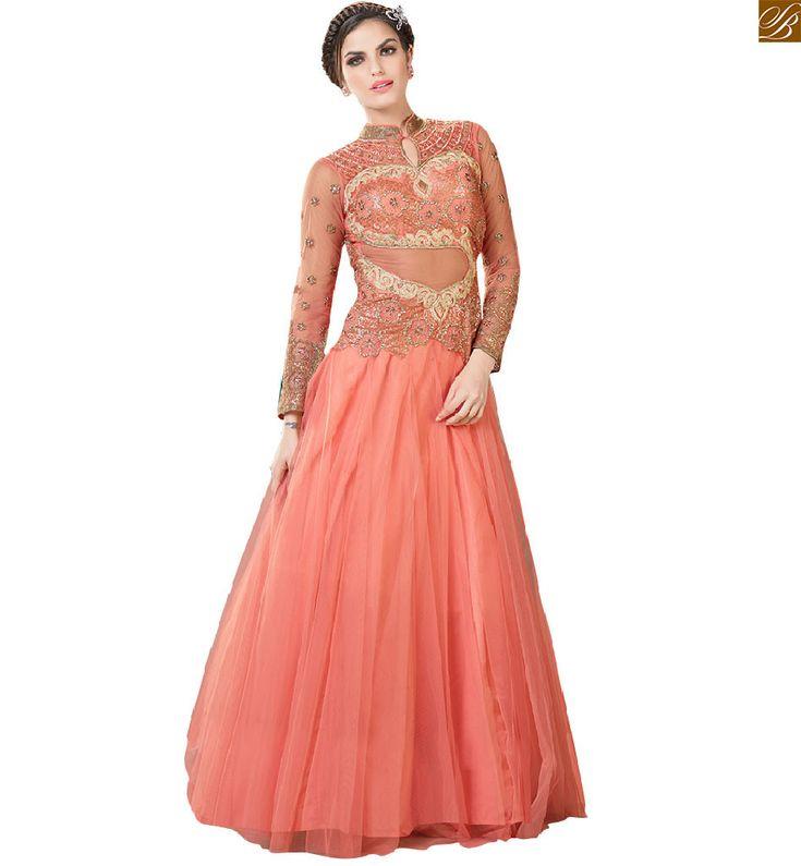 13 best Gown style dresses images on Pinterest   Anarkali dress ...