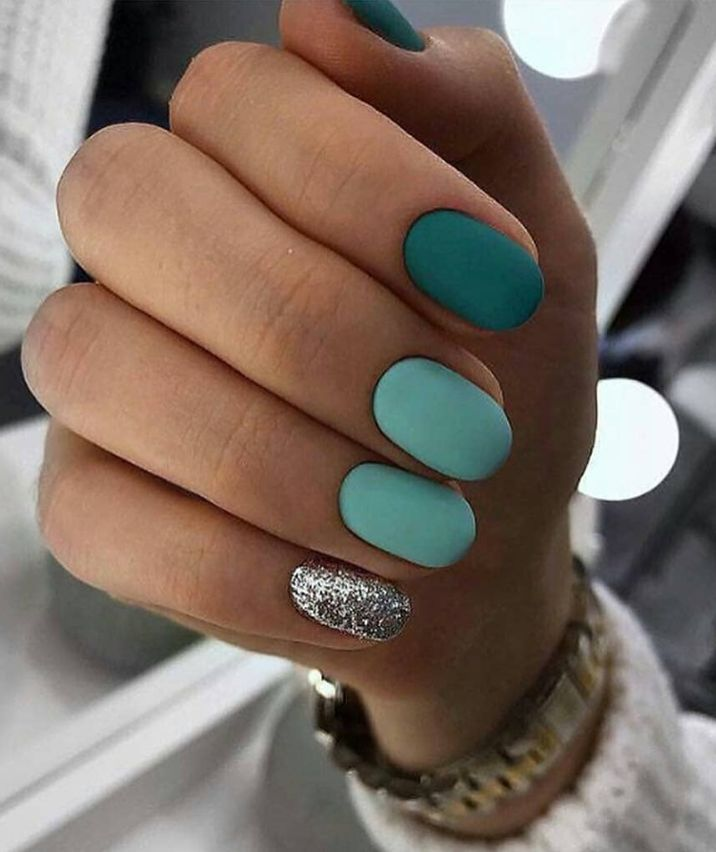 #acryldesign #atmungsaktiv #blau # für #kurz #matt – Summer Nails