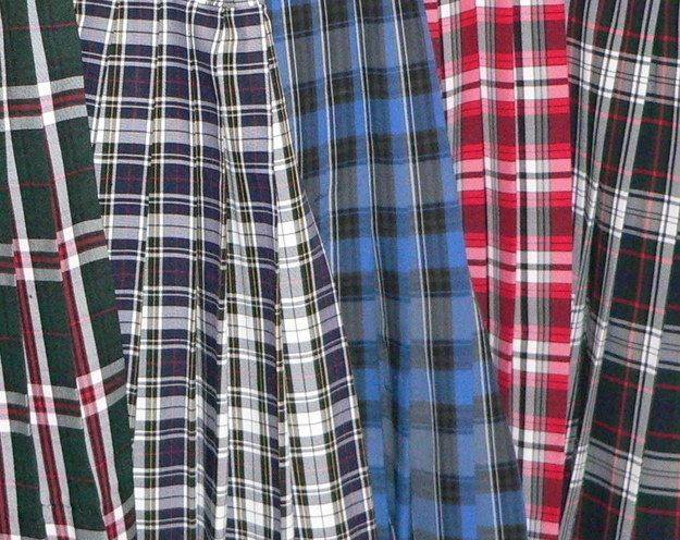 Your school uniform was basically all tartan. | 23 Photos That Will Only Make Sense If You Grew Up Catholic