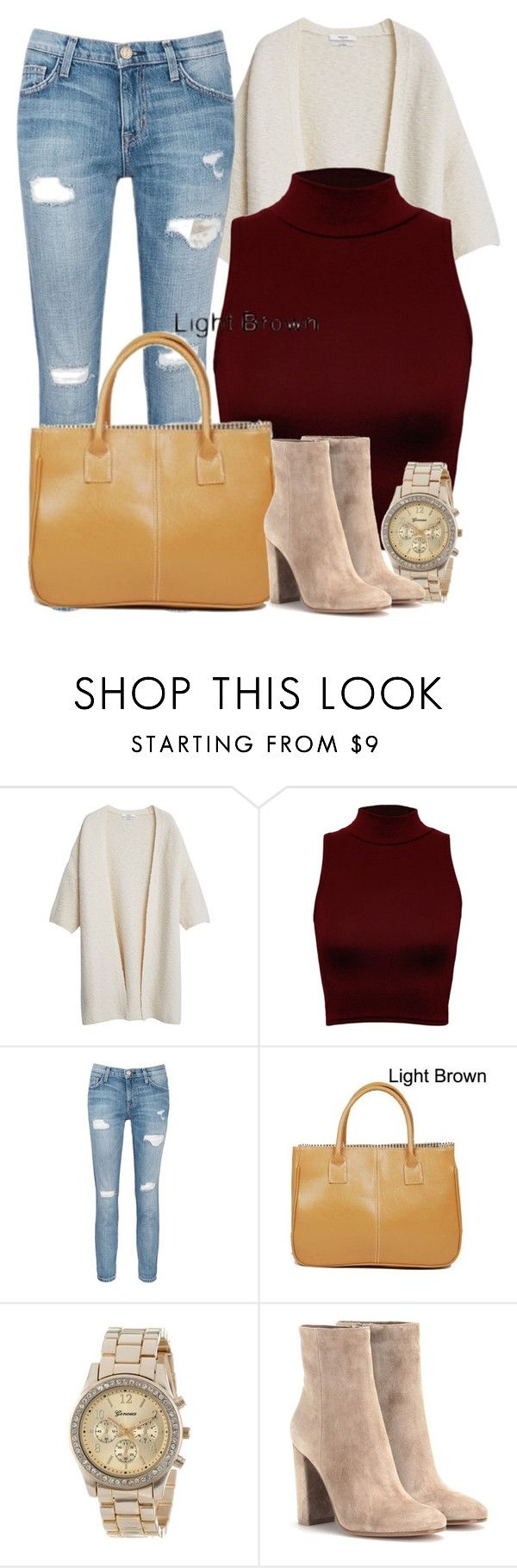 """""""Fall Party Outfit 2015"""" by myfriendshop ❤ liked on Polyvore featuring MANGO, WearAll, Current/Elliott and Gianvito Rossi"""