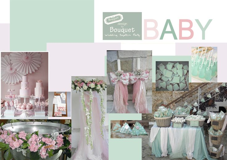 Soft mint and soft pink for the baby shower!