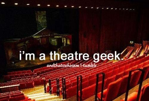 So true. Theatre for me is like taking a bath. You never know if the water is cold or hot and if you might drown. But once you take the risk to jump, the water feels extremely comfortable and you want to stay there forever. -Britt
