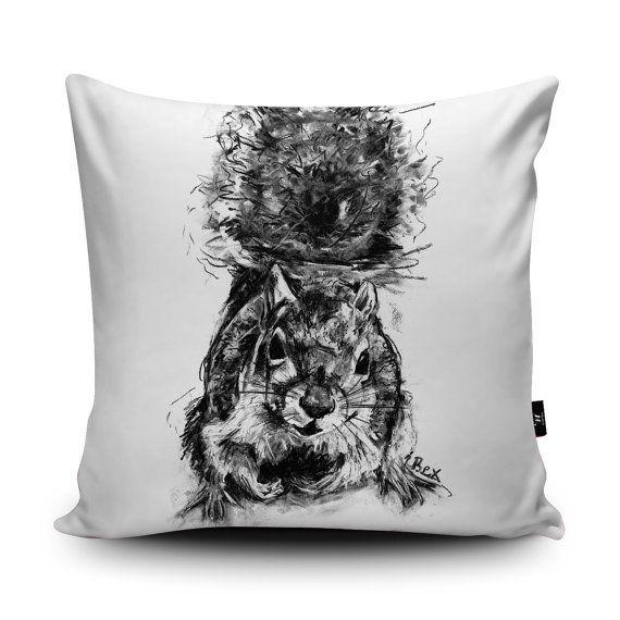 Squirrel Cushion Animal Cushion Squirrel Pillow by Wraptious