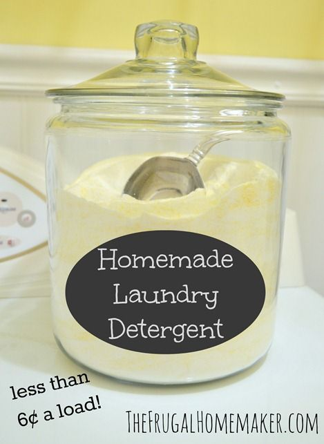 Save money with this easy homemade laundry detergent recipe using only four ingredients.