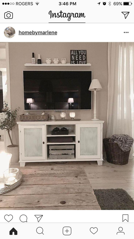 Inspo for shelf above the tv...