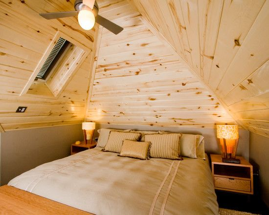 Attic Ceiling And Walls Covered In Wood Would Be Nice