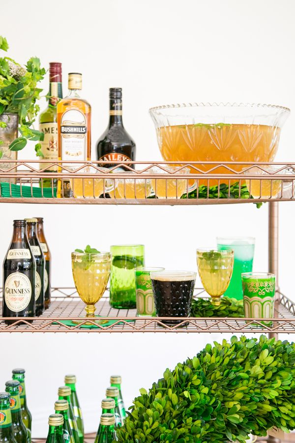 Tips for setting a Saint Patrick's Day bar cart