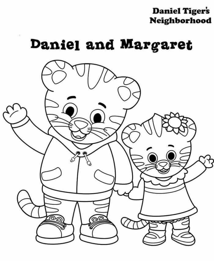 Coloring Daniel Tiger S Neighborhood Daniel Tiger Daniel Tiger S Neighborhood Family Coloring Pages