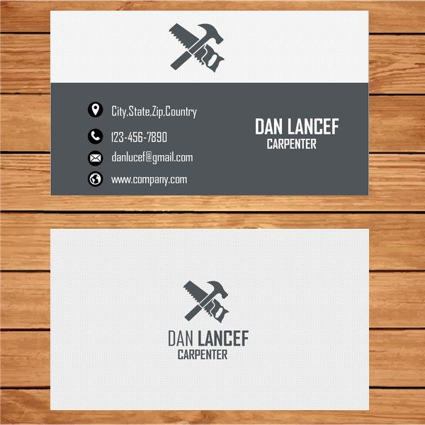 22 best business card template images on pinterest business card carpenter business card template fbccfo Choice Image