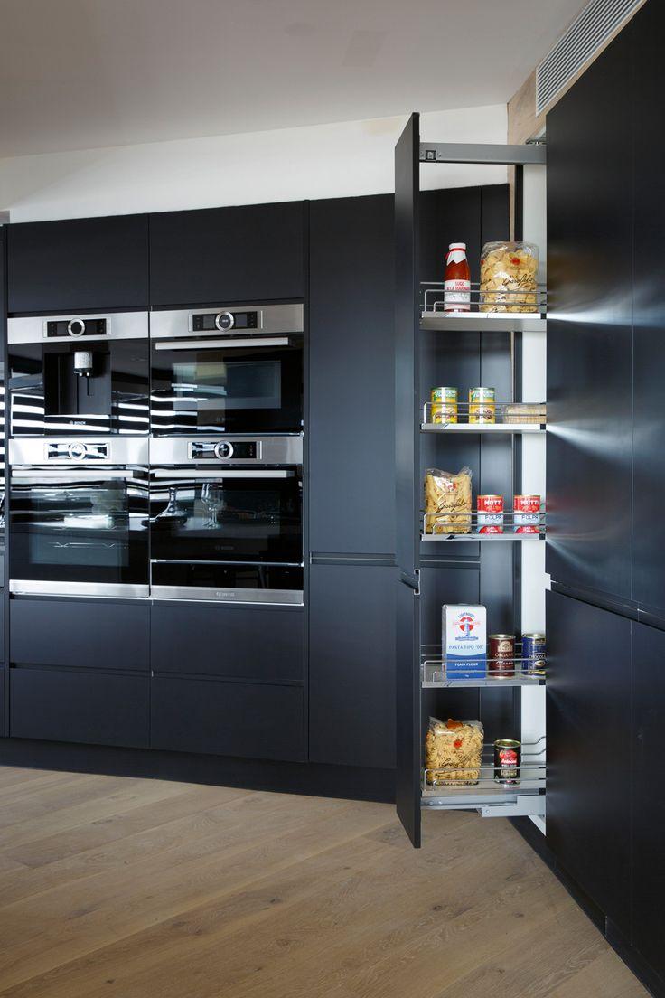 Inside the kitchens of The Block 2015: Suzi & Vonni. Featuring Hettich hardware. #pantrystorage #kitchenorganisation