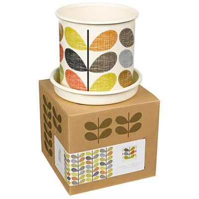 Contemporary Pieces online is proud to stock the Orla Kiely garden range.  The multistem planter pot come in small, medium and large. Use indoors to add designer style to your interior.  Drip tray also included!  On sale now.