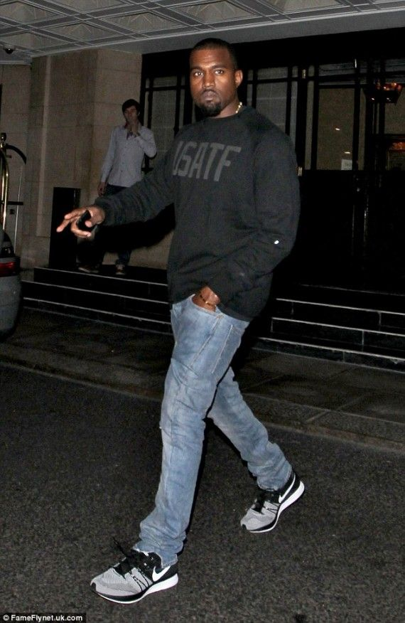 Kanye looking fresh in Nike FlyKnit  Nike  976da6c89