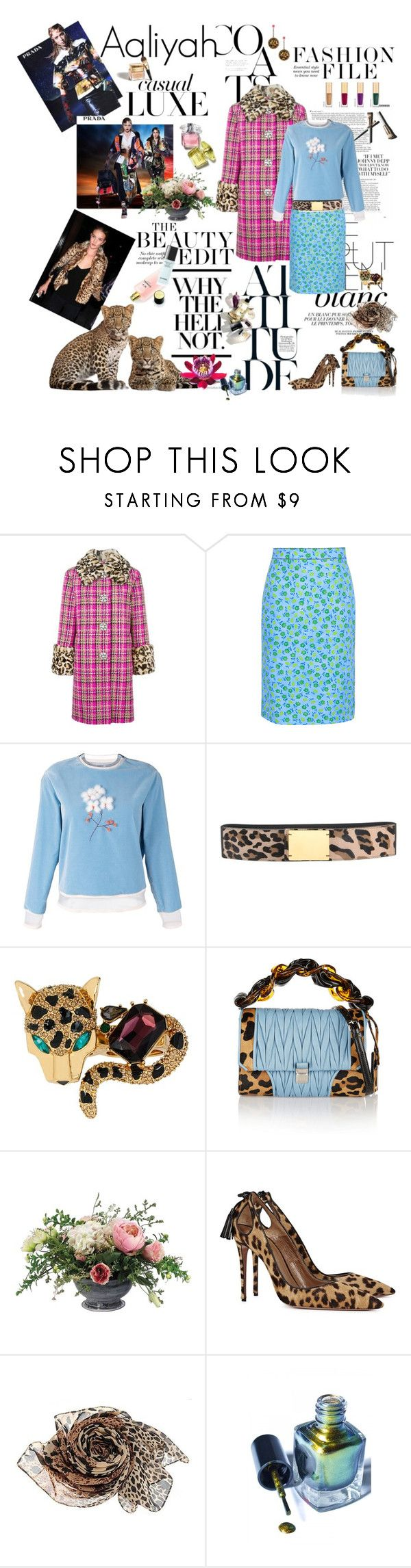 """Aaliyah 2017-017"" by aaliyah ❤ liked on Polyvore featuring Ex Voto Paris, Garance Doré, Marc Jacobs, Prada, Fendi, Marni, Betsey Johnson, Miu Miu, Allstate Floral and Aquazzura"