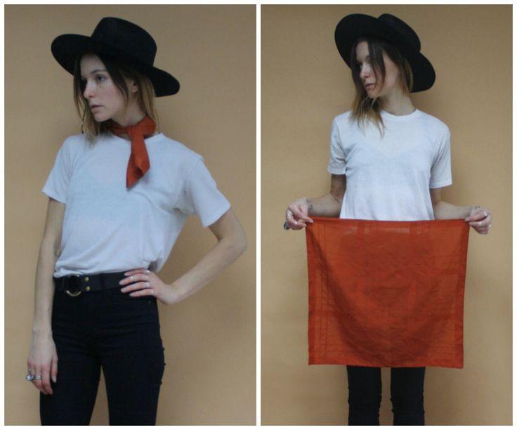 Vintage 70s Orange Square Scarf Handkerchief Mod Retro Bohemian Tie Up Scarf Bandana Head Wrap Neck Tie Bow Tie by TumblingDiceVintage on Etsy https://www.etsy.com/au/listing/569050902/vintage-70s-orange-square-scarf