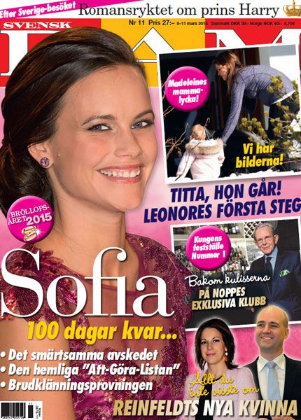 Sofia Hellqvist on the cover