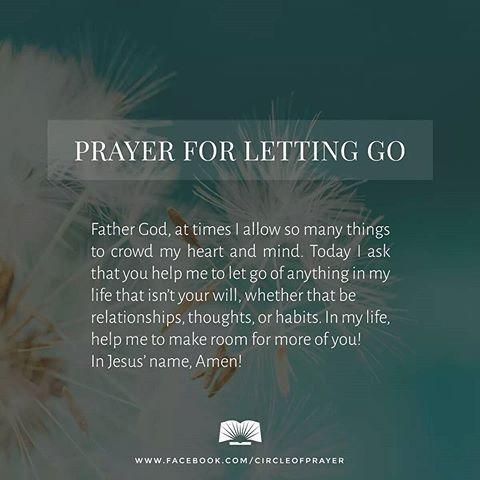 Prayer for letting go...