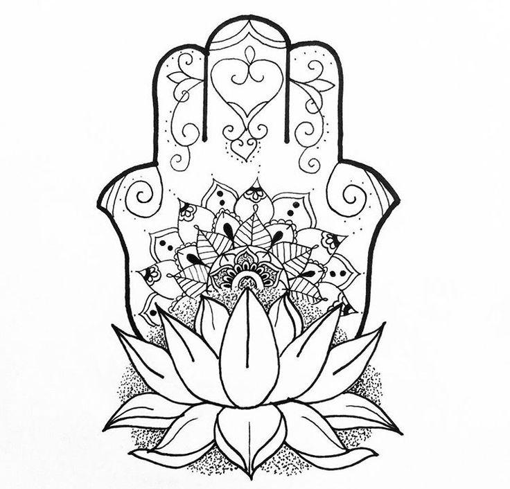 68 best Fatima images on Pinterest   Zeichnen, Hamsa tattoo und Hand ...