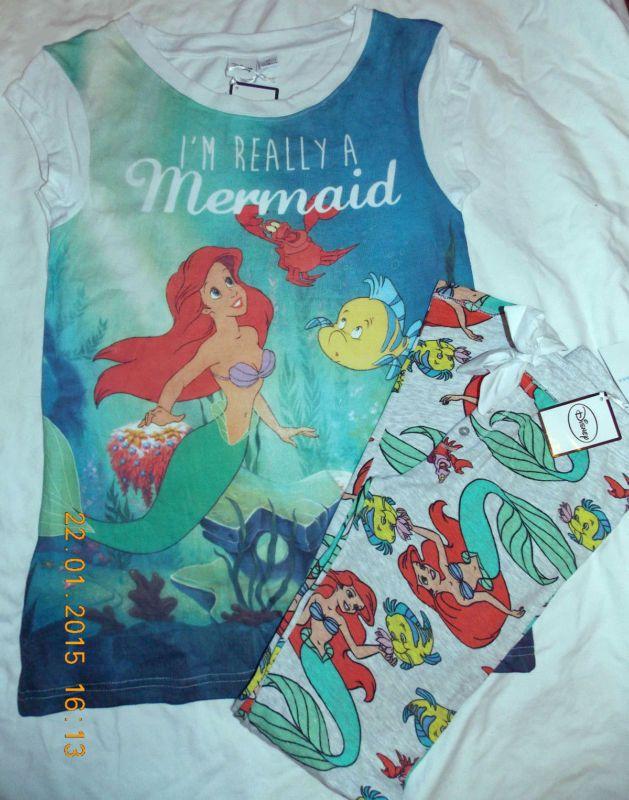 DISNEY Ladies Pyjamas ARIEL The LITTLE MERMAID T Shirt Top  Primark
