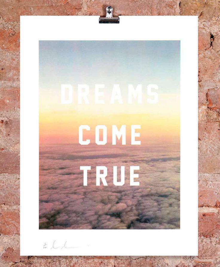 'Dreams Come True' the limited edition artwork by artist Dave Buonaguidi.