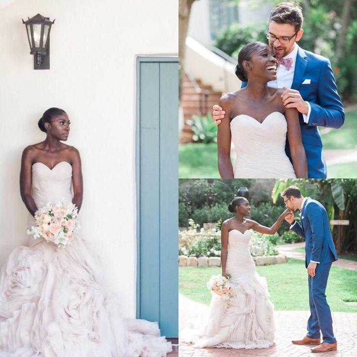 Gorgeous interracial couple at their wedding celebration in Santa Barbara, California #love #wmbw #bwwm #swirl #wedding #lovingday