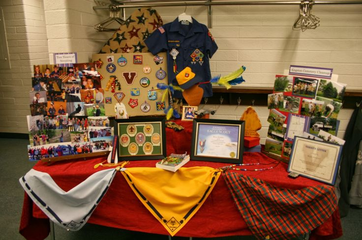 "Bryce's Eagle Scout Court of Honor, ""Ten Years of Scouting"" Display"