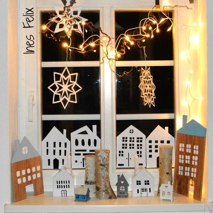 672 best images about diy by ines felix on pinterest for Winterdekoration fenster