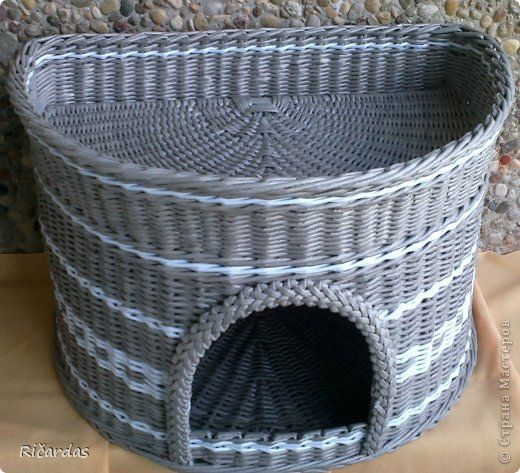 Beautiful cat basket! Работа Ричарда