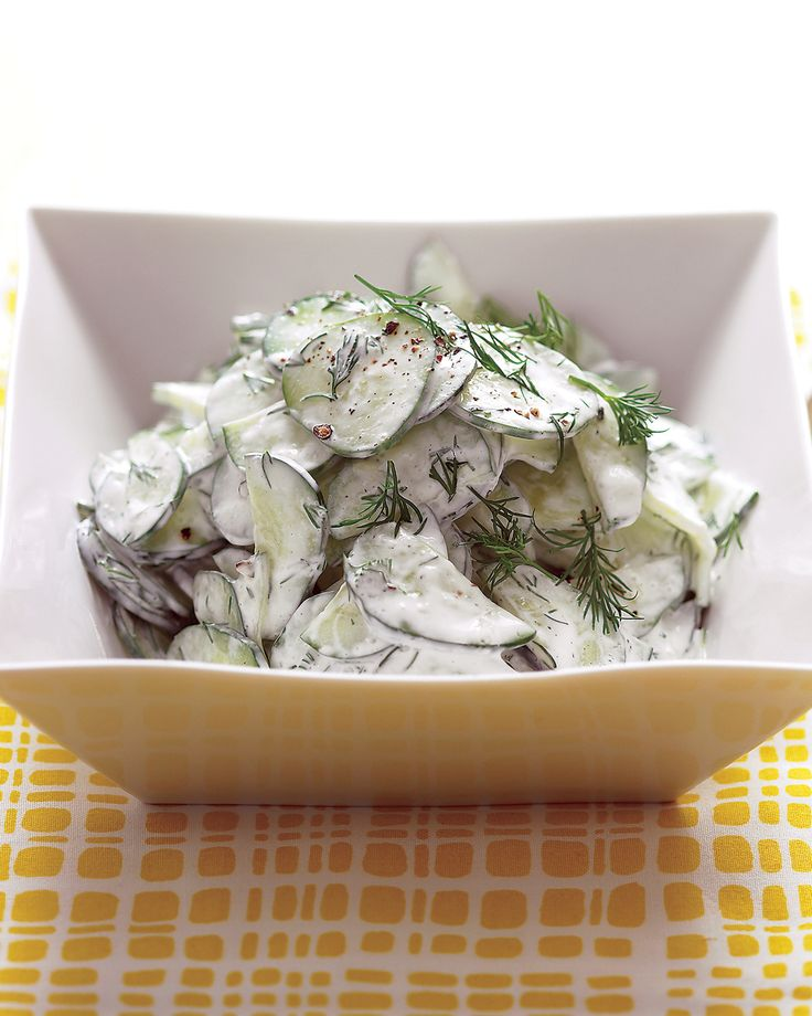 Cucumber Salad with Sour Cream and Dill Dressing Recipe & Video | Martha Stewart