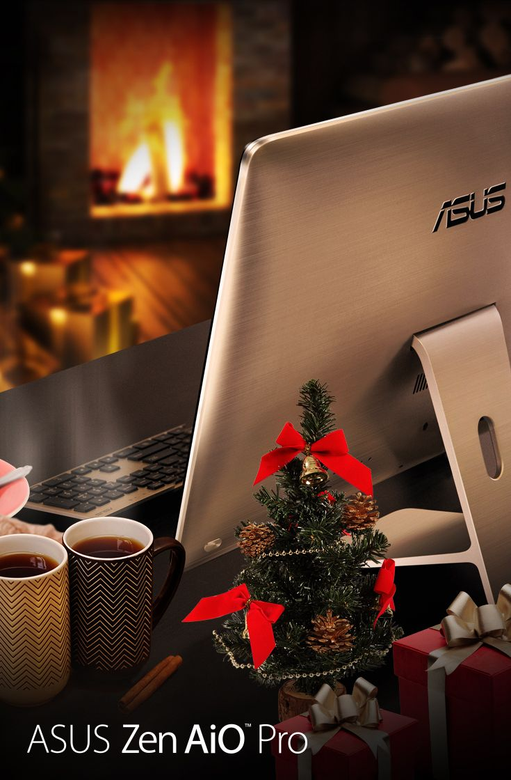 Stay warm and cozy in style with #ZenAiO Pro's delicate brushed-metal texture.