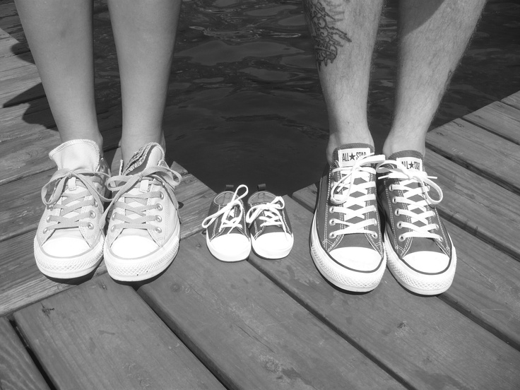 our converse baby announcement pic