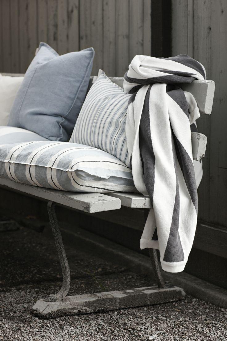 Duckegg blue cushions by Linum