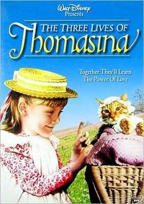 "The Three Lives of Thomasina--classic Disney film about a kitty; if you're observant you can tell that they use different cats by the changing tabby markings on ""Thomasina"" (didn't they figure cat people could tell??!! LOL)"