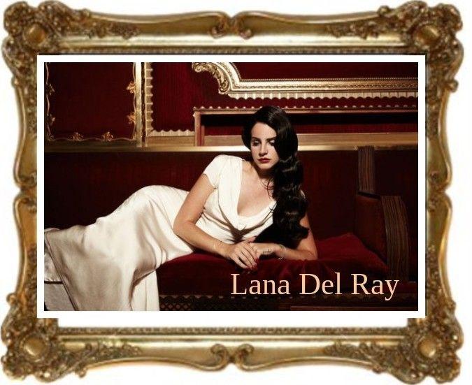 Lana Del Ray in een prachtige vintage outfit #topvintage